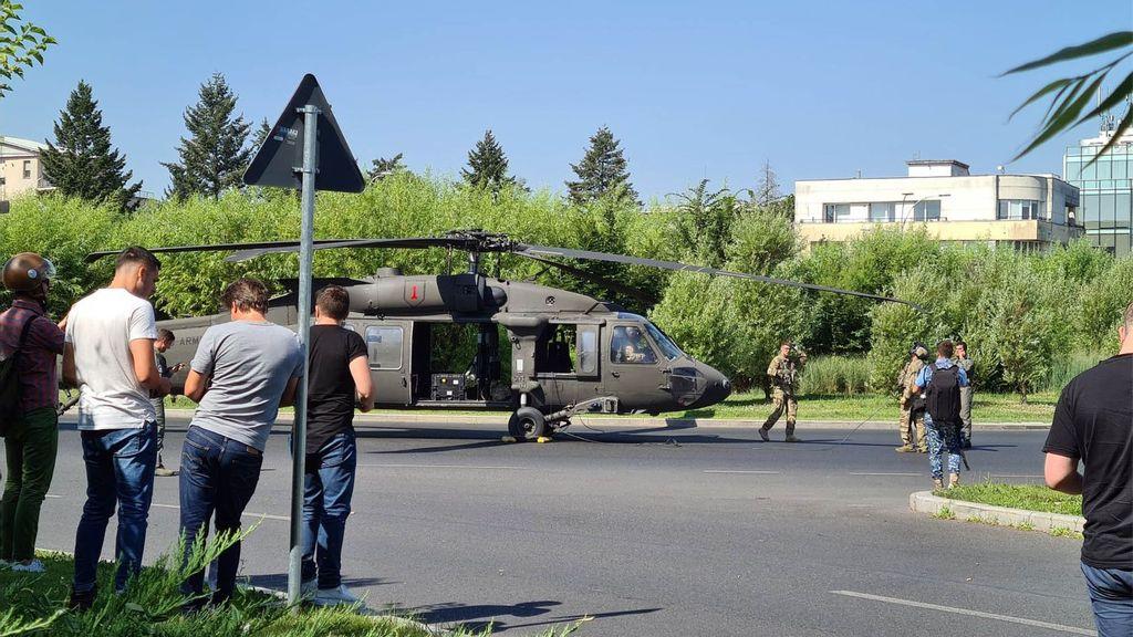 VIDEO: Black Hawk Downed: Air Gunship Makes Emergency Landing On Highway