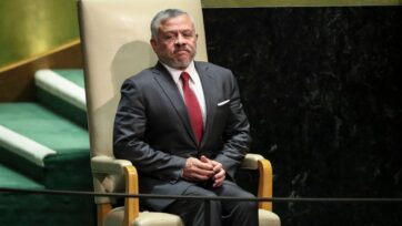 Jordanian King Abdullah II at the U.N. General Assembly in New York City in September 2019. (Drew Angerer/Getty Images)