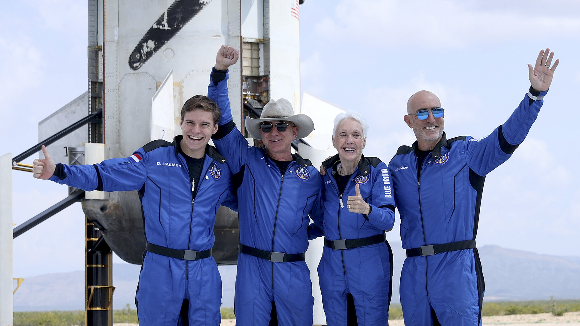 American Billionaire Jeff Bezos, Blue Origin Crew Successfully Complete Spaceflight