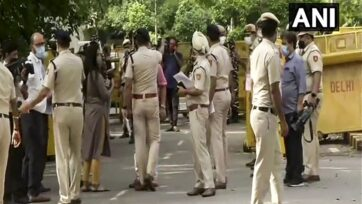 Forces deployed at Jantar Mantar ahead of farmer's protest tomorrow. (ANI)