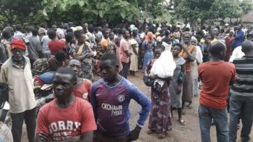 Diplaced Persons fleeing violence in Tombura in July 2021.