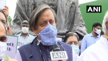Shashi Tharoor has summoned the officials of the Indian Ministry of Electronics and Information Technology and the Indian Ministry of Home Affairs to appear before it over the alleged Pegasus snooping issue on July 28. (ANI)