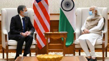 The US Secretary of State, Mr. Antony J. Blinken calling on the Prime Minister, Narendra Modi, in New Delhi on July 28, 2021. (pib.gov.in)