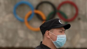 There is new bipartisan pressure for the Olympics to be relocated out of China due to alleged human rights abuses. (Photo by Lintao Zhang/Getty Images)
