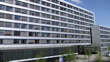 The Higher Regional Court of Frankfurt am Main located in the city of Frankfurt in Germany where the Syrian doctor Alaa Moussa was charged with crimes against humanity on July 15, 2021. (OLG Frankfurt am Main/Zenger)