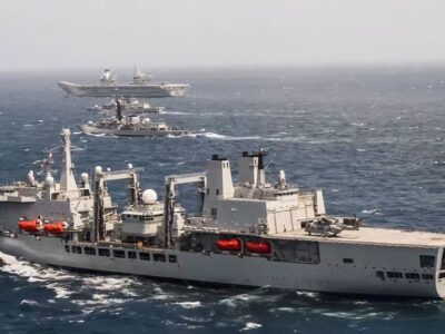 The U.K. Royal Navy's Carrier Strike Group recently completed its first major workout since entering the Indian Ocean. (@royalnavy/Zenger News)