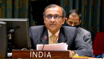 Ambassador of India to United Nations TS Tirumurti speaking to ANI As India assumed the rotating presidency of the United Nations Security Council. (PR/Amb T S Tirumurti, @ambtstirumurti/Twitter)