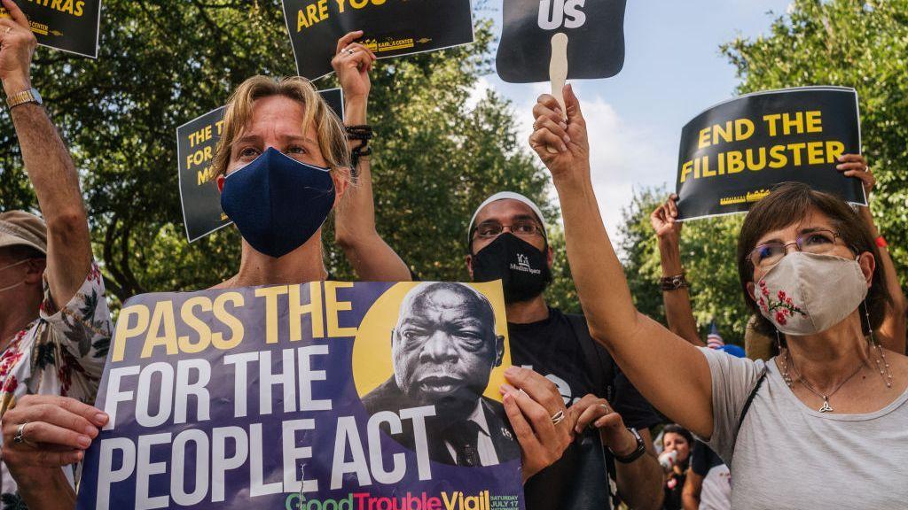Activists Say Federal Voting Rights Bills Not Dead