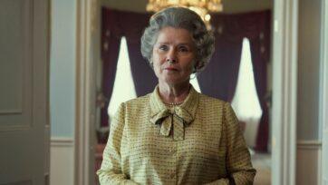 Imelda Staunton's first look as Queen Elizabeth II. (The Crown, @TheCrownNetflix/Facebook)