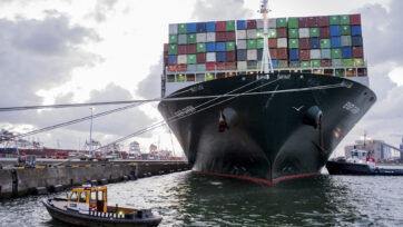 Released From The Suez Canal Container Ship Ever Given Arrives In Rotterdam