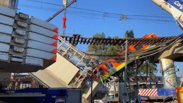 El desplome del tramo de un puente donde pasaba el Metro dejó 26 muertos y más de 100 heridos el pasado 3 de mayo de 2021, en la Ciudad de México. (Sandra Itzel López Zepeda/Protección Civil)