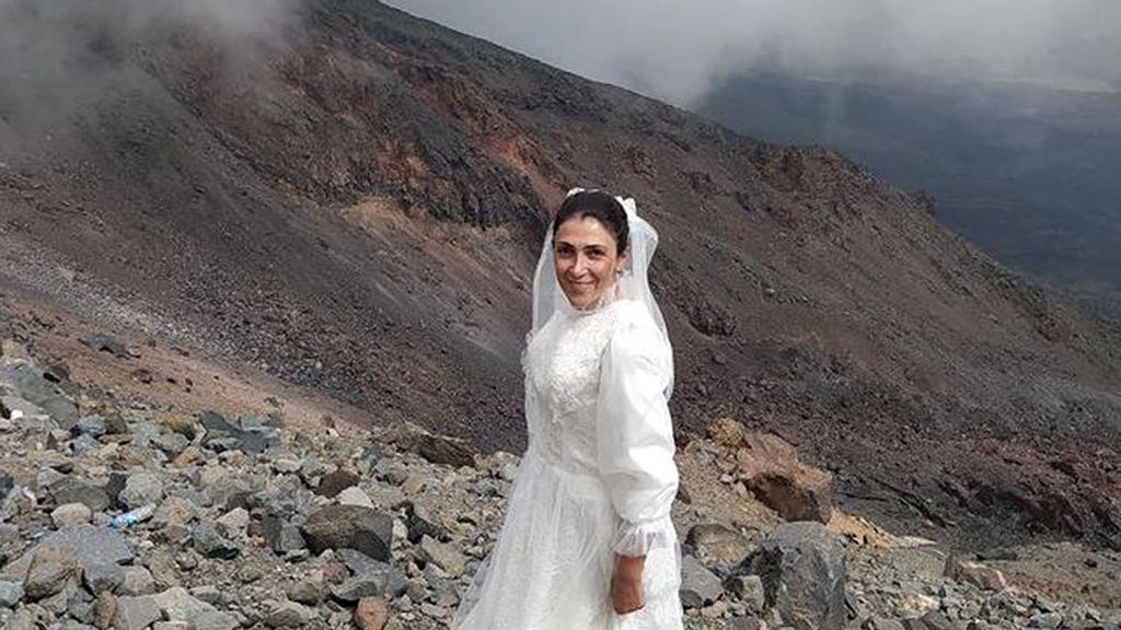 VIDEO: Floody Hell: Woman Weds Noah's Ark Mountain In Protest Of Male Violence