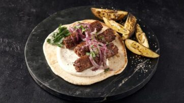 Redefine Lamb Kebab, a juicy minced alt-meat product for the most common street-food dish from the Middle East to India. (Courtesy of Redefine Meat)