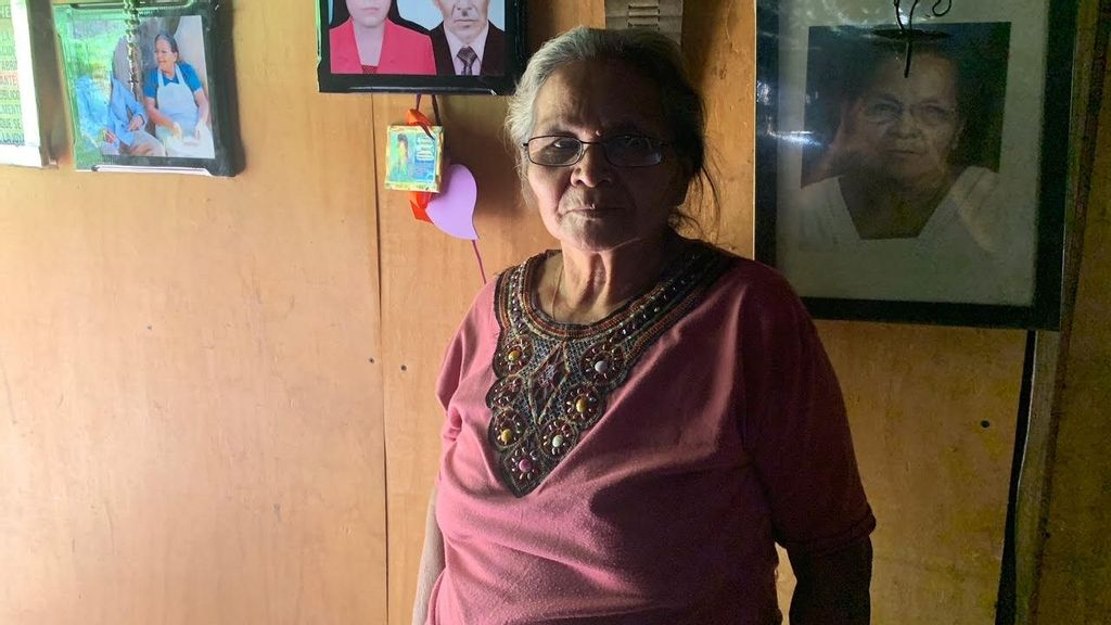 <p>Dozens of Maria del Rosario's family members were mutilated and killed during the 12-year civil war in El Salvador. She and many others from her village, which was the scene of a massacre, are testifying at the war crimes trial underway this year. (Hollie McKay)</p>