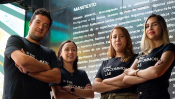 From left to right, Marc Freudenberg, General Manager; Susana Ferreira, New Product Development Engineer; Ana Isabel Ortiz, Operations Coordinator; and Leslie Castro, Community Manager at The Uncommon Lab. (Courtesy of The Uncommon Lab)