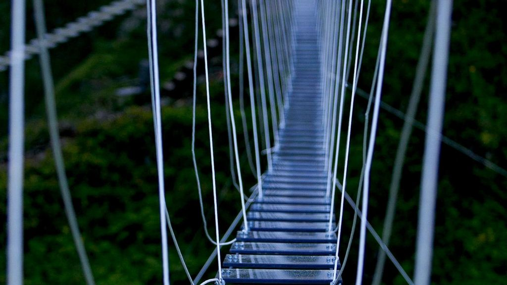 Scary Glass-Bottomed Rope Bridge Opens At Russian Peak — But Only For Lightweight Hikers