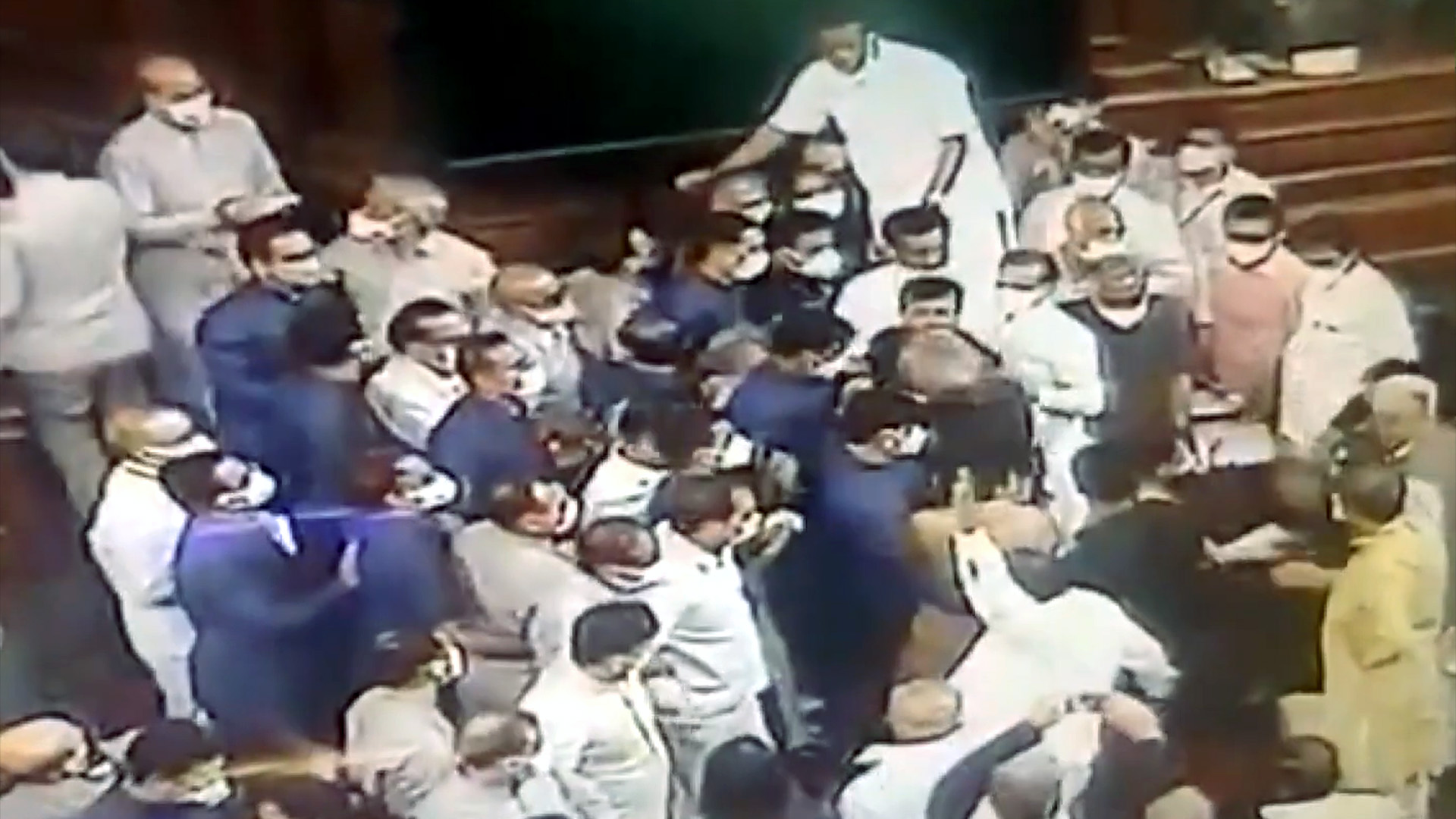VIDEO: Stormy Scenes Play Out At Indian Parliament Upper House