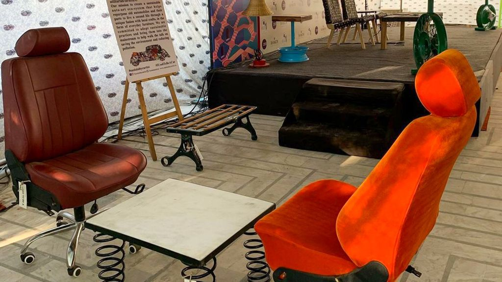 North Indian Organization Curates Designer Furniture By Upcycling Old Car Parts, Automotive Waste