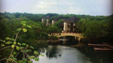 strongVista del Hotel Fairmont Mayakoba, en la Riviera Maya, Cancún, Quintana Roo, cede del evento para relanzar el turismo de lujo después de la pandemia. (Jimena Rivera/Zenger)/strong