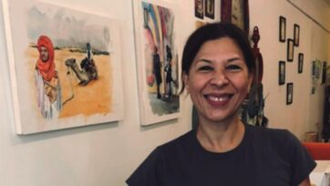 Despite the pandemic, Luz M. Marriaga followed her dream of opening a coffee shop. (Negocios Now)
