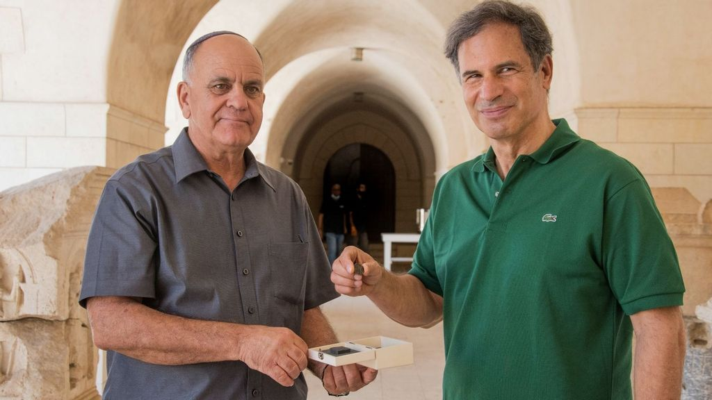 Ancient Coin Takes Off To The Stars With Israeli Astronaut