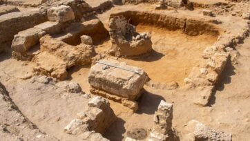 Remains of a residential and commercial suburb dating to the Graeco-Roman era were discovered in Alexandria, Egypt. (Egyptian Ministry of Tourism and Antiquities/Zenger)