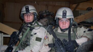 Former Army Ranger Dr. Tony Brooks (left), pictured on active duty in Afghanistan, was 18 years old when he saw news of the attacks on 9/11 and decided to drop out of college to join the Army. (Courtesy of Dr. Tony Brooks)