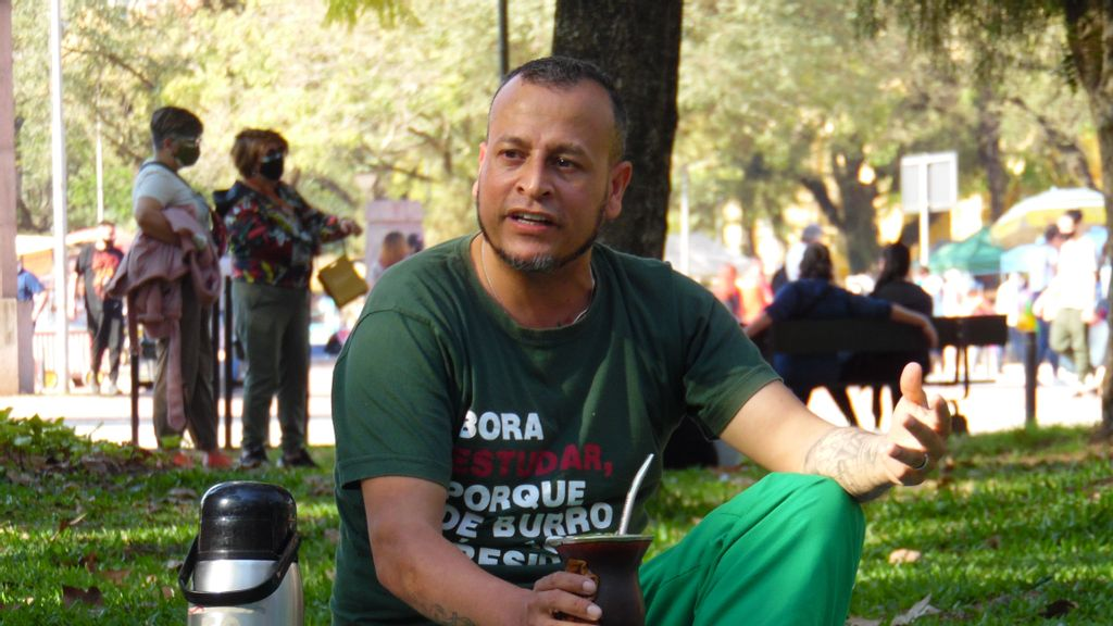 <p>Alexandro Cardoso is studying at the Federal University of Rio Grande do Sul, thanks to a scholarship. (Víctor Cardoso)</p>