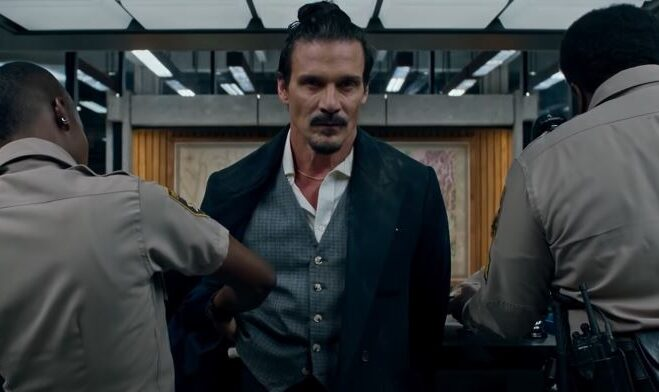 """Frank Grillo is a two-timing con man in """"Copshop."""" (Courtesy of Open Road Films)"""