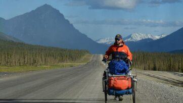 strongBrazilian Matias Tartiere hopes to walk the world. Now, he is exploring Alaskan highways. (Matias Tartiere)/strong