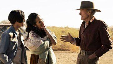 "Eduardo Minett, Natalia Traven and Clint Eastwood in ""Cry Macho."" (Warner Bros.)"