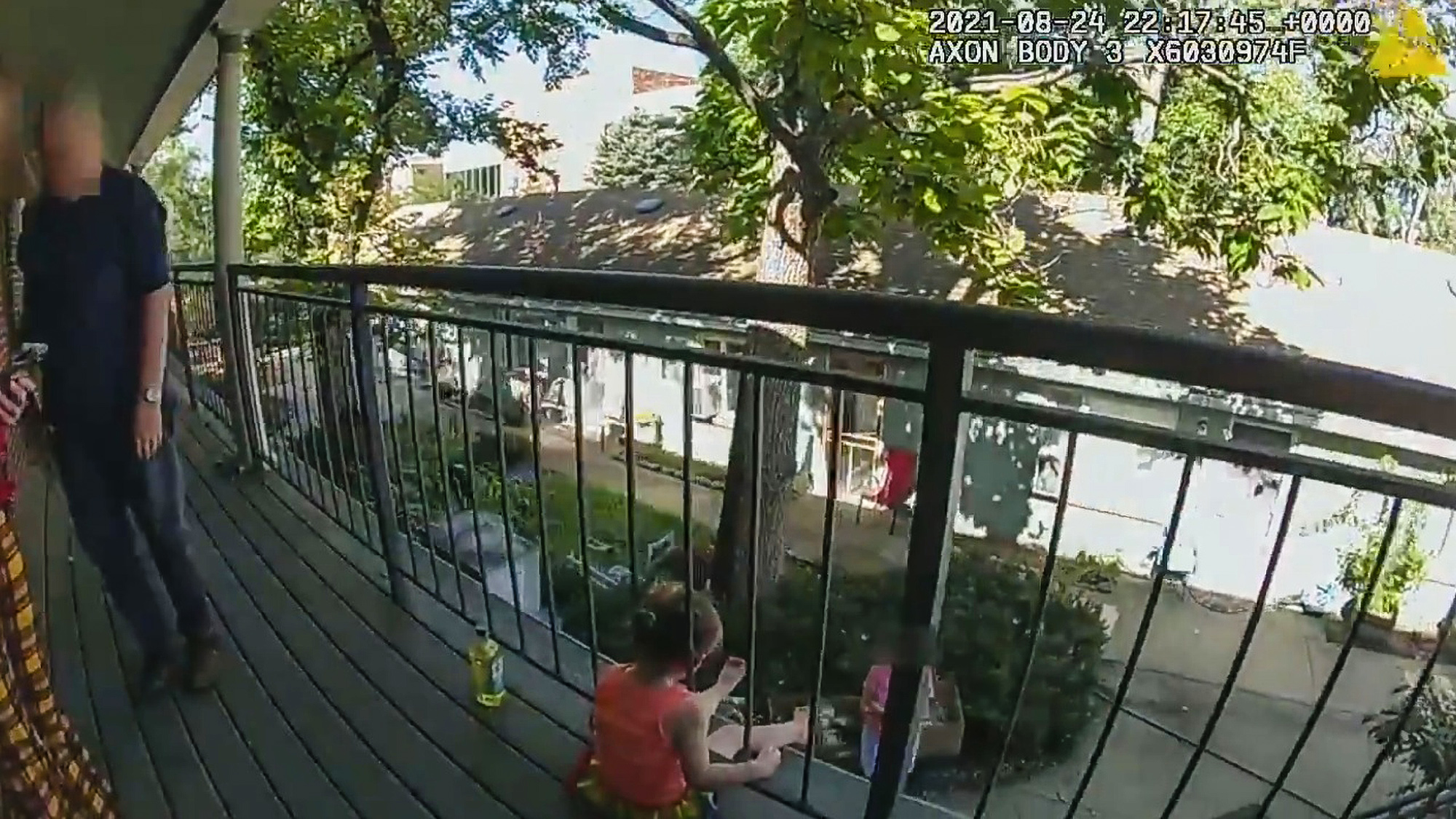 VIDEO Rail Close: Cops Use Battering Ram To Free Child's Head From Fence