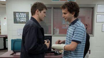 A miscommunication between Connor Murphy (Colton Ryan, left) and Evan Hansen (Ben Platt) leads to tragedy. (Universal Pictures)
