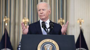 U.S. President Joseph R. Biden Jr., shown here speaking to reporters at the White House on Sept. 24, faces major votes later this week over his administration's budget and infrastructure spending plans. (Anna Moneymaker/Getty Images)