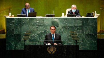 Bolsonaro da un discurso en la ONU el 21 de septiembre, el cual después fue criticado. (Alan Santos/PR/Dominio Público)
