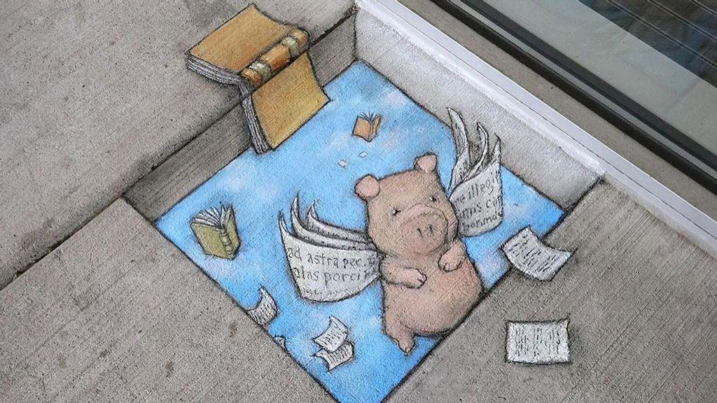 VIDEO: Holey Moley: 3D Street Artist Amazes Fans With His Cute Cartoon Animals