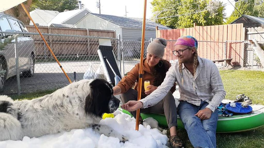 Snow Kind: Couple Track Down Piles Of Man-Made Snow For Cancer-Stricken Dog's Last Romp