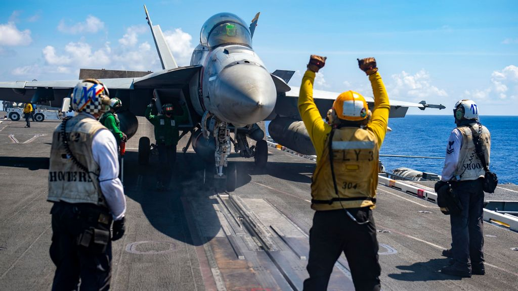 US Jets Take Off From Carrier As Americans And Allies Train Together In Pacific