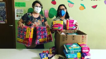 Las donaciones de toallas sanitarias han permitido a decenas de mujeres brasileñas en situaciones precarias a obtener un artículo que, de lo contrario, no tendrían el dinero para adquirir. (strongCortesía de Maria H. Sarquiz/strong)