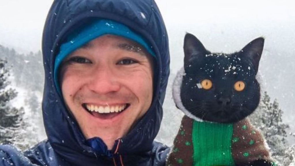 VIDEO: Pawsome: Pet Puss Is Adventurer's Purr-fect Trekking Companion