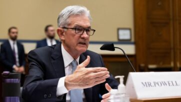 """strongFederal Reserve Chairman Jerome Powell told the House Financial Services Committee on Sept. 30 that officials expect high inflation to """"abate"""" once more of the economy has reopened. (Graeme Jennings-Pool/Getty Images)/strong"""