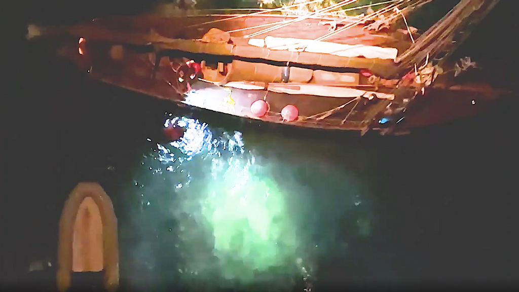 VIDEO: Coast Guard Helicopter Rescues 4 From Yacht That Ran Aground