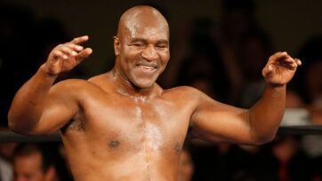 Evander Holyfield was considered the greatest cruiserweight of all time before retiring in June 2014 at age 52 as the only four-time heavyweight champion. (George Frey/Getty Images)