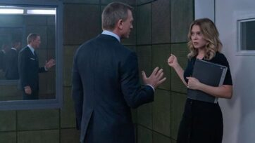 """Daniel Craig and Léa Seydoux reprise their roles as James Bond and Madeleine Swann in the latest 007 film, """"No Time to Die."""" (Courtesy MGM Studios)"""