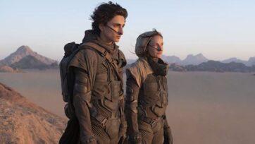 "Paul (Timothée Chalamet) and Lady Jessica (Rebecca Ferguson) take control of the dangerous desert planet Arrakis in ""Dune."" (Warner Bros.)"