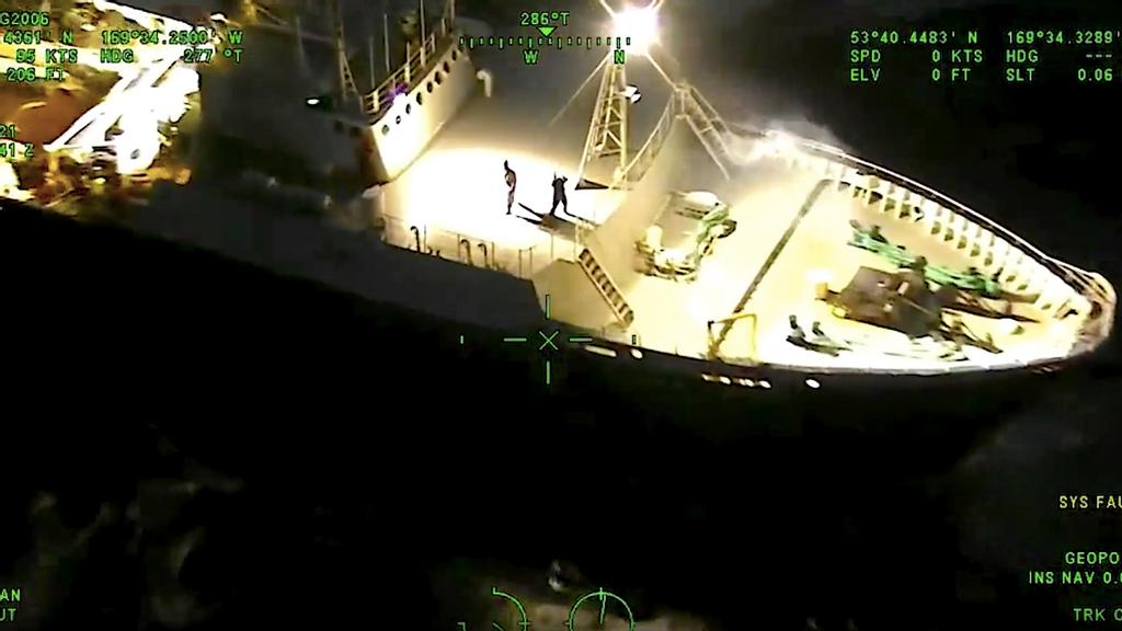 VIDEO: Air Drop: Coast Guard Chopper Drops Lifesaving Oxygen To Ship's Crew