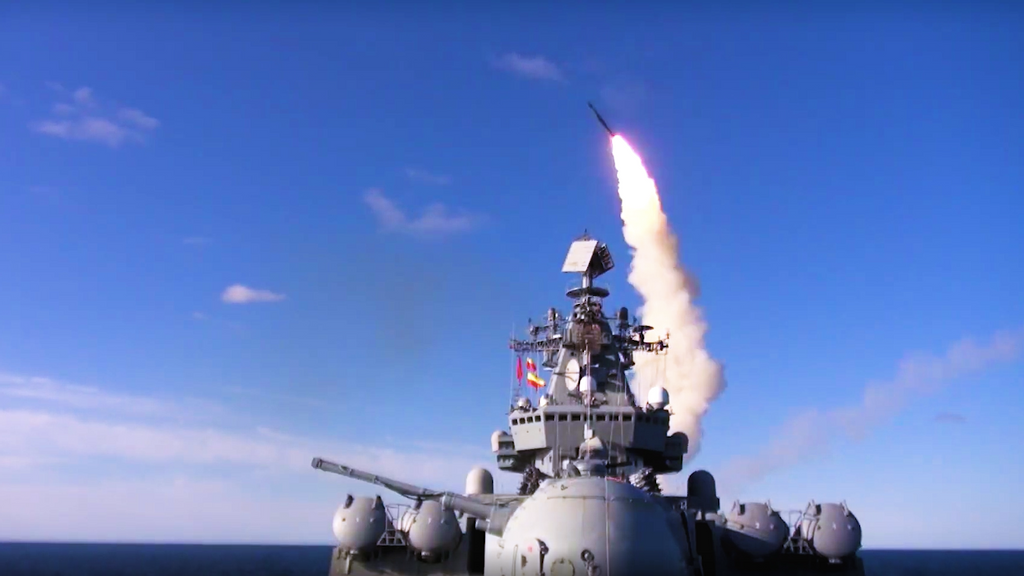 VIDEO: Putin On Pressure: Russian Warships Fire Anti-Aircraft Missiles In Training Drill