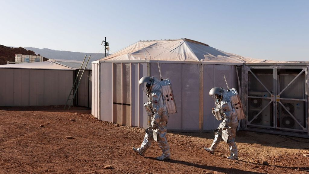 Astronauts Carry Out Space Mission In Israeli Desert