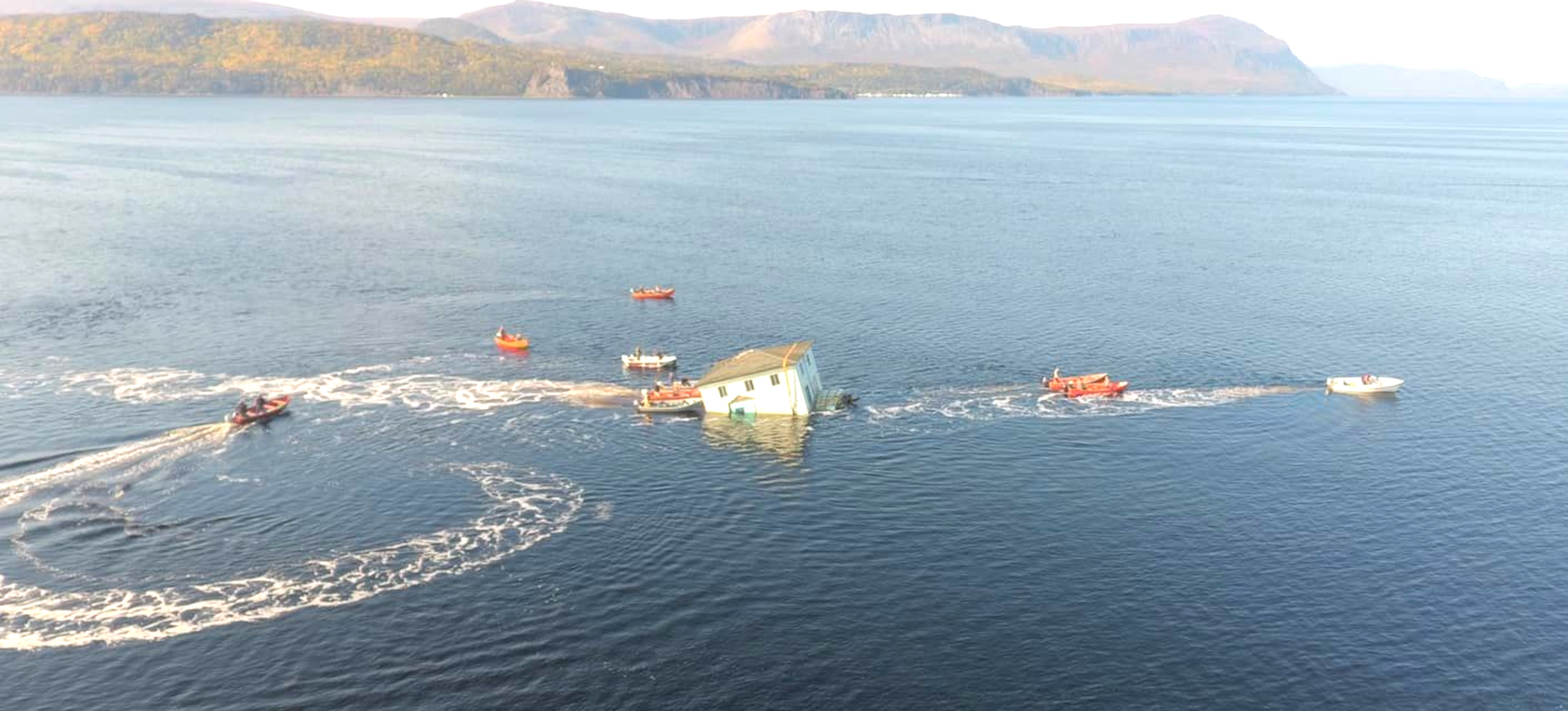VIDEO: Home Takes To The Water To Reach New Plot Of Land