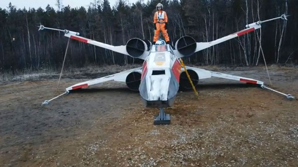 VIDEO: 'Star Wars' Buffs Build Life-Size X-Wing After Mandalorian Ship Replica Is Destroyed